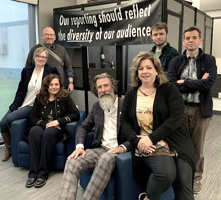 The CapScribe project team. Group photograph starting from left to right with Charles Silverman, Jennifer Curry Jahnke, Andrea Jelic, Rob Harvie, Tracey Kadish, Colin Taylor, and Antonio Gamba-Bari